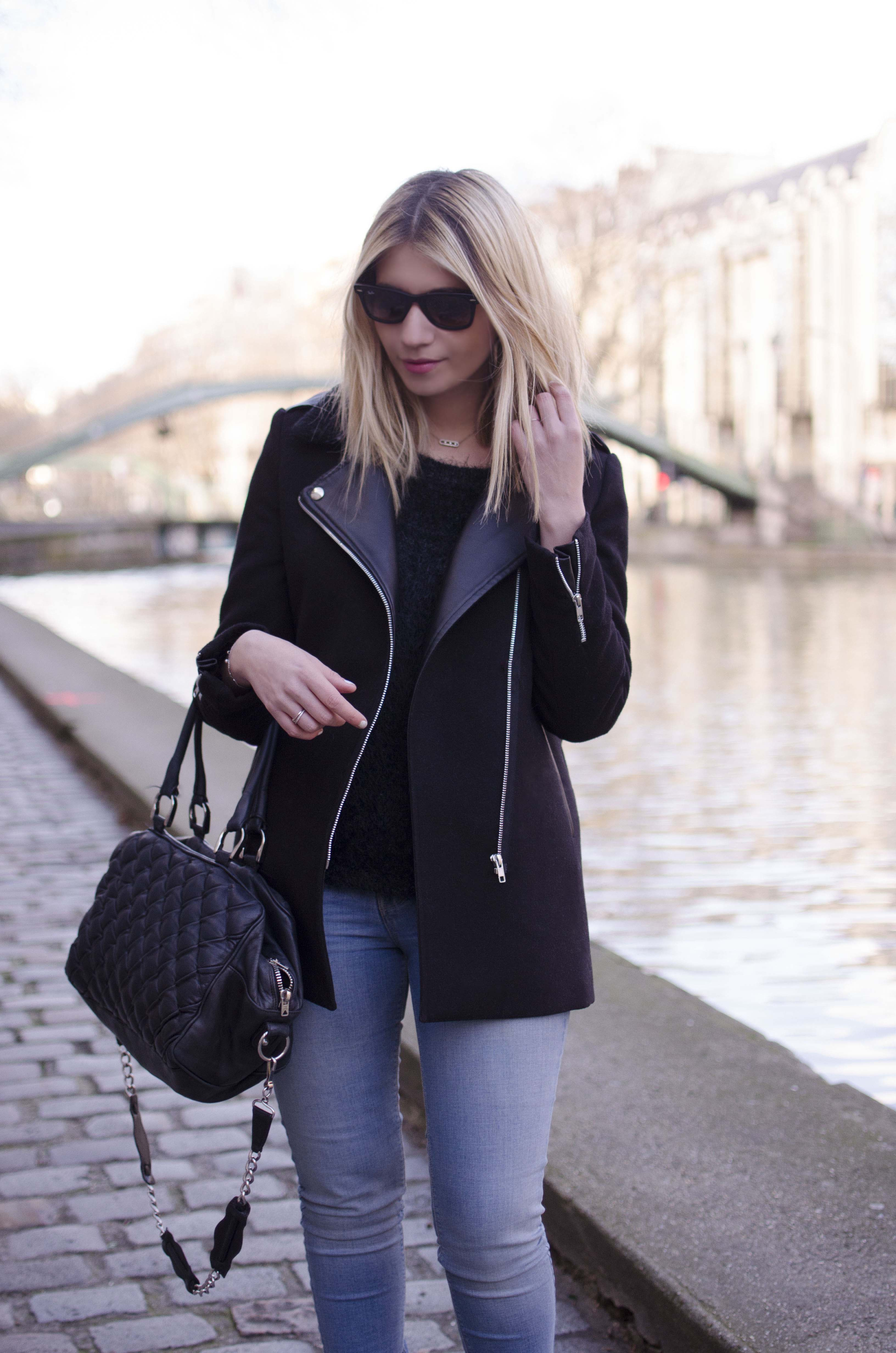 ootd blond blogger french