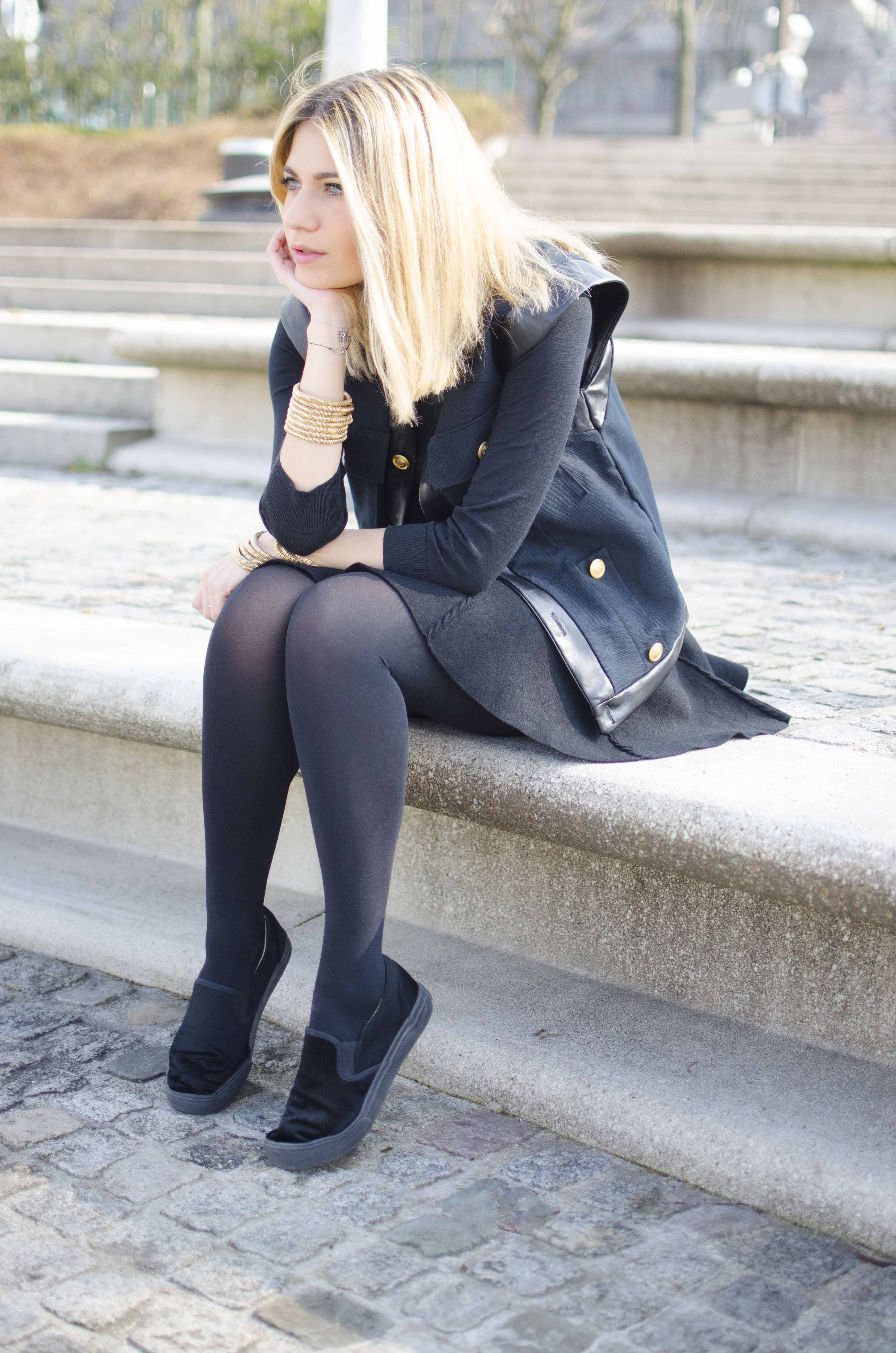 ootd blonde bloggueuse pierre henry bor