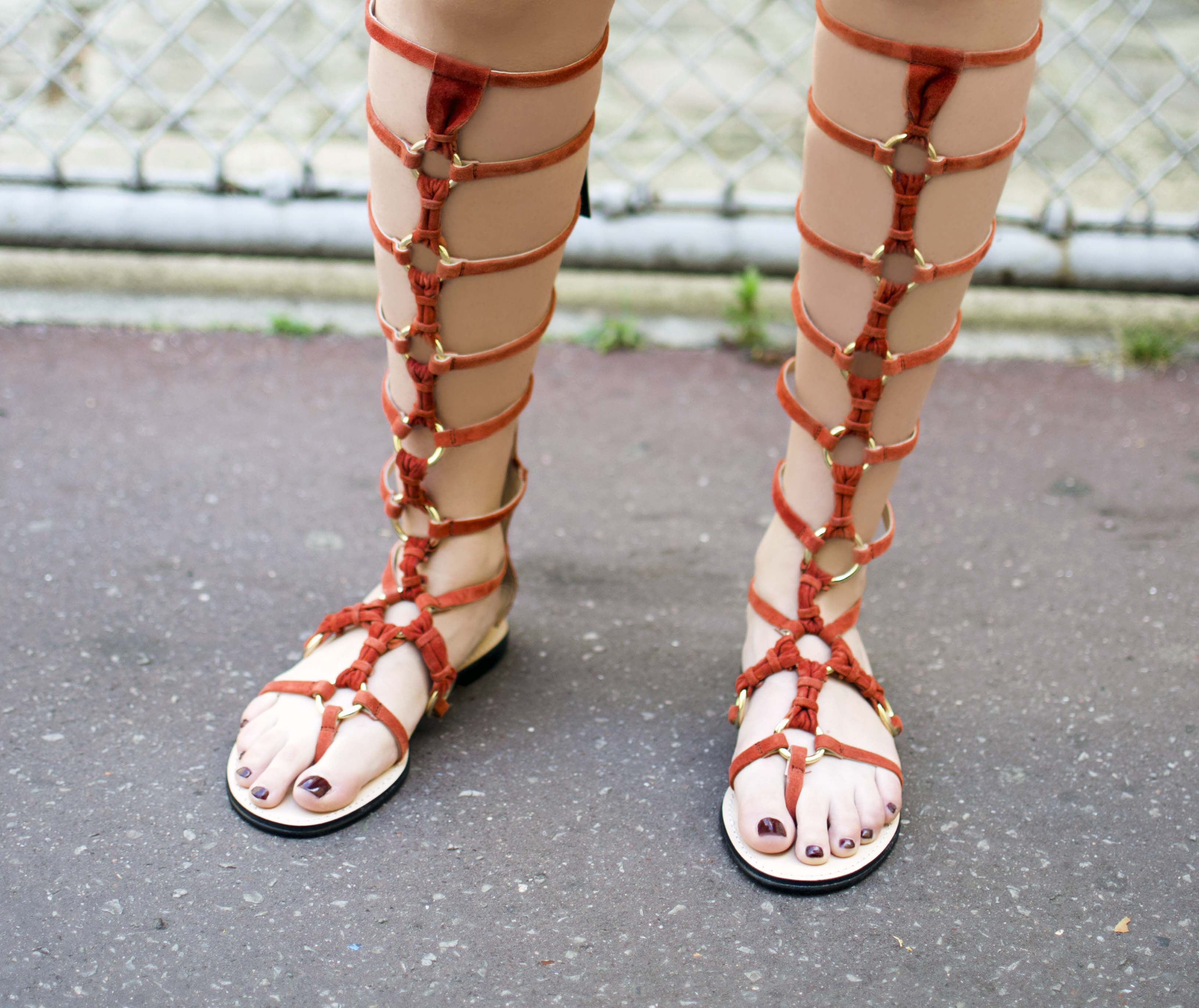 ootd spartiate haute gladiator zara