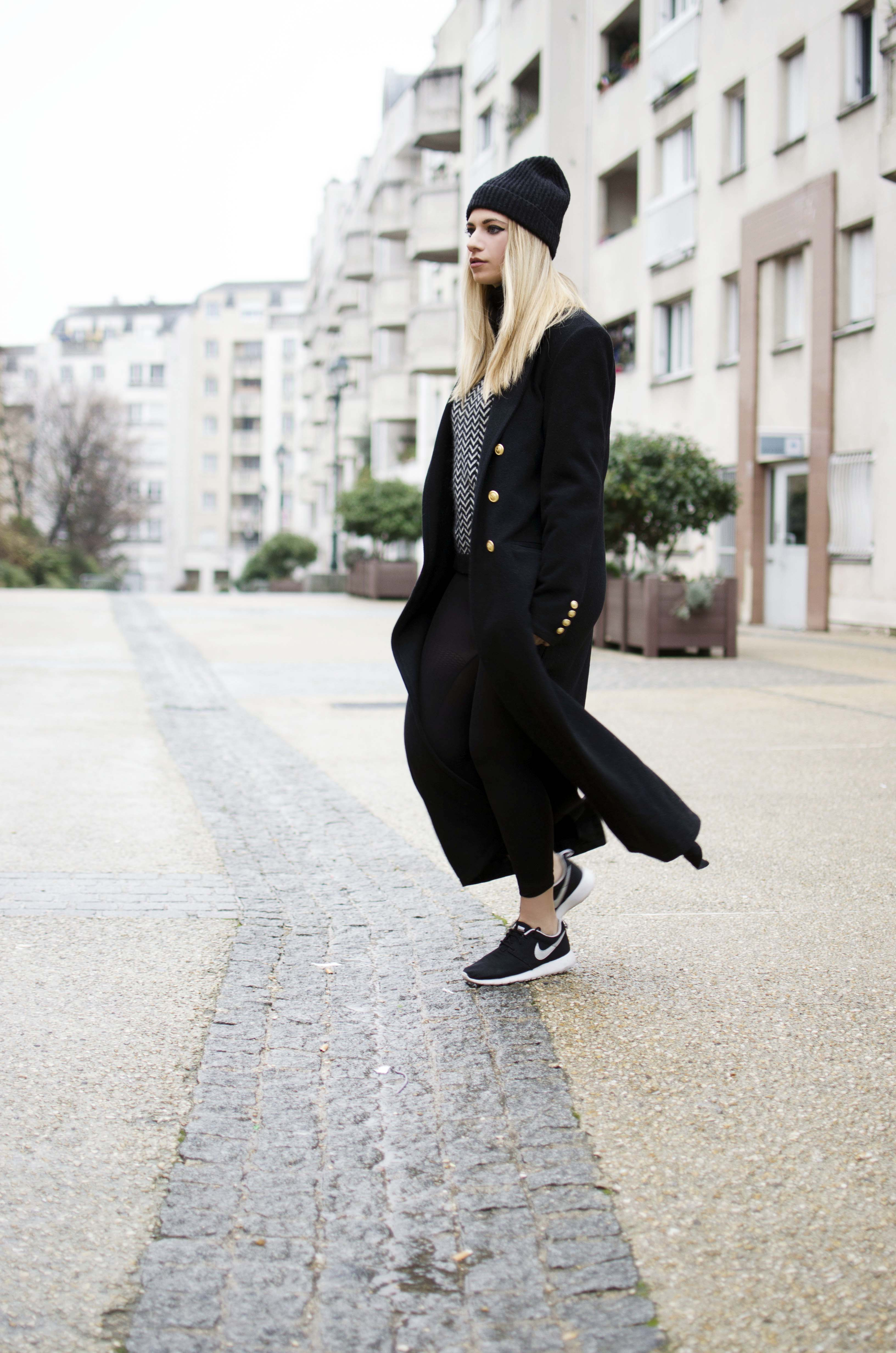 ootd long coat manteau long pierre henry bor