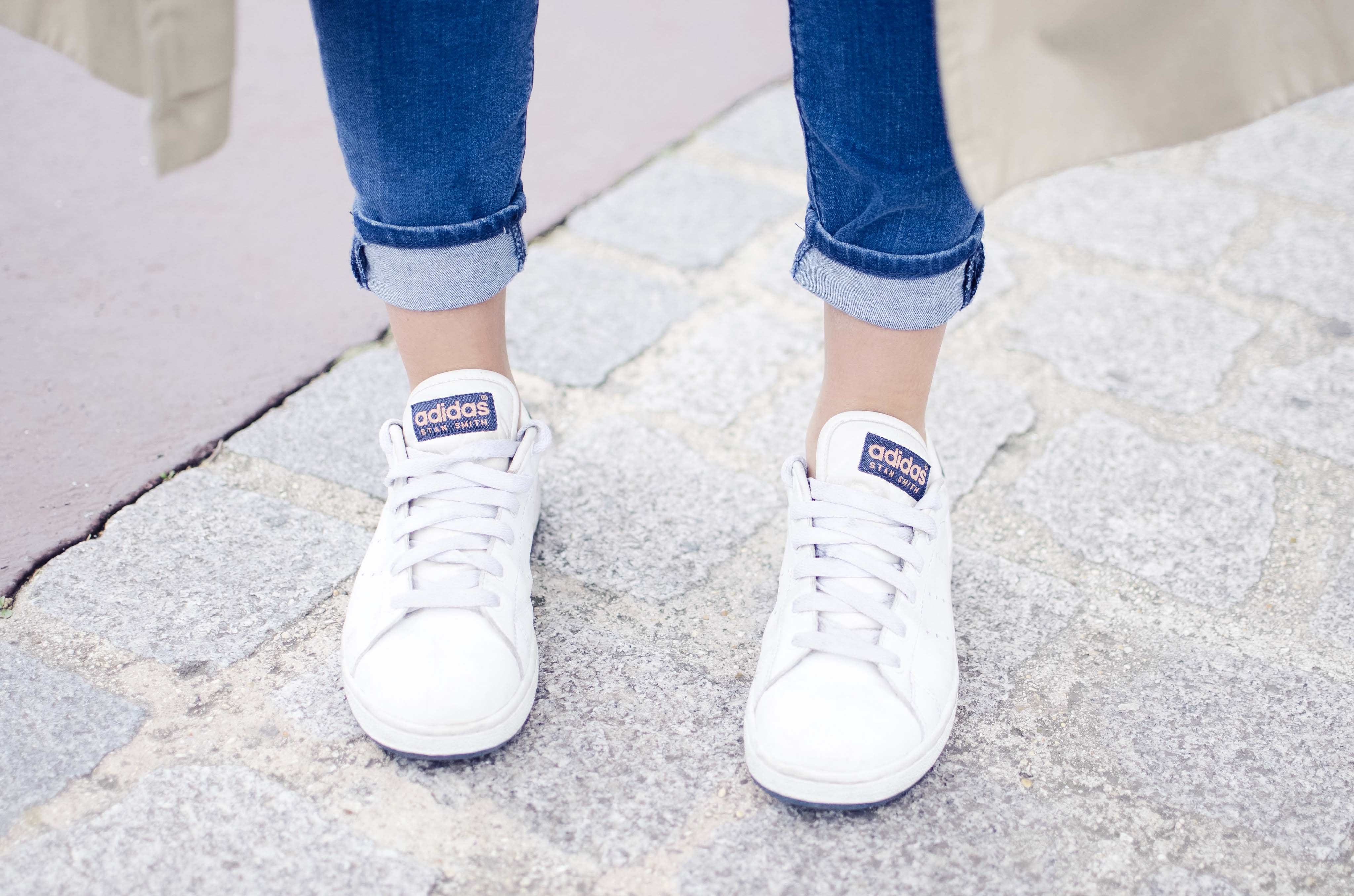 ootd stan smith pied foot feet
